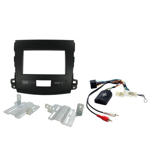 Connects2 Car Stereo Fitting Kit Double DIN Facia Radio Installation For Mitsubishi - CTKMT06