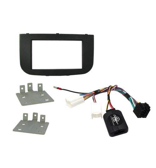 Connects2 Car Stereo Fitting Kit Double DIN Facia Radio Installation For Mitsubishi - CTKMT08