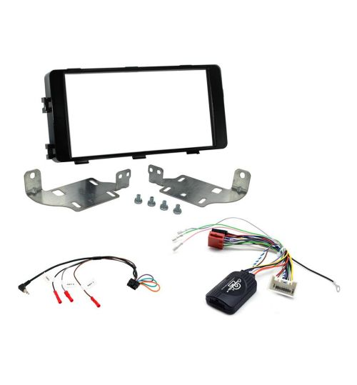 Connects2 Car Stereo Fitting Kit Double DIN Facia Radio Installation For Mitsubishi - CTKMT09