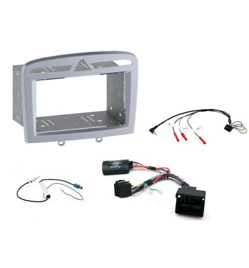 Connects2 Car Stereo Fitting Kit Double DIN Facia Radio Installation For Peugeot - CTKPE06
