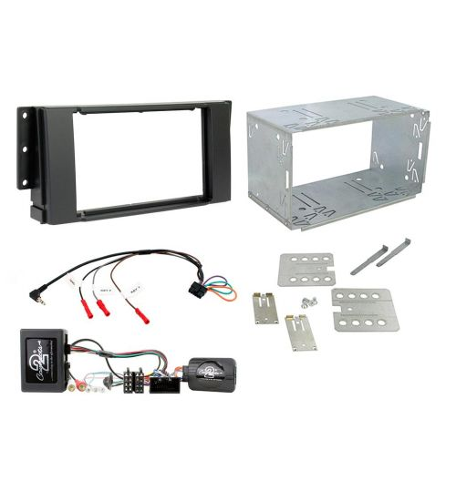 Connects2 Car Stereo Fitting Kit Double DIN Facia Radio Installation For Range Rover Sport - CTKLR06
