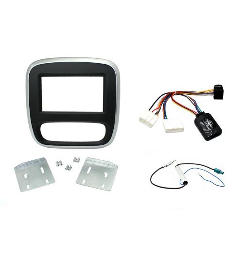Connects2 Car Stereo Fitting Kit Double DIN Facia Radio Installation For Renault - CTKRT07