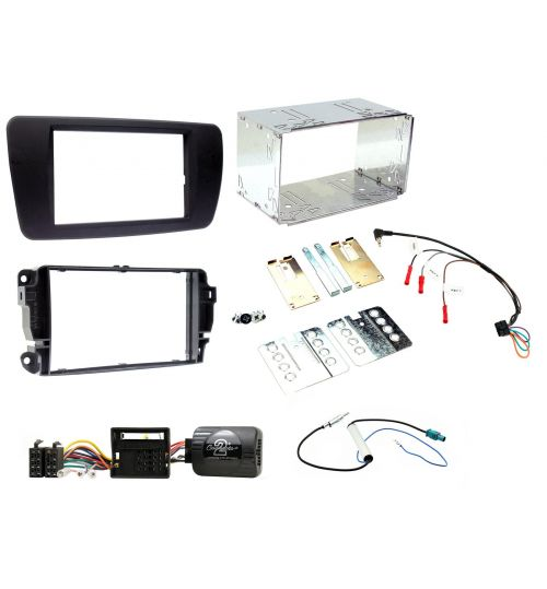 Connects2 Car Stereo Fitting Kit Double DIN Facia Radio Installation For Seat - CTKST01