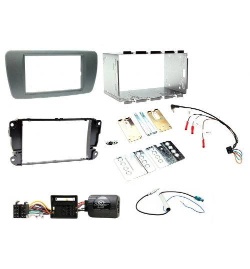 Connects2 Car Stereo Fitting Kit Double DIN Facia Radio Installation For Seat - CTKST02