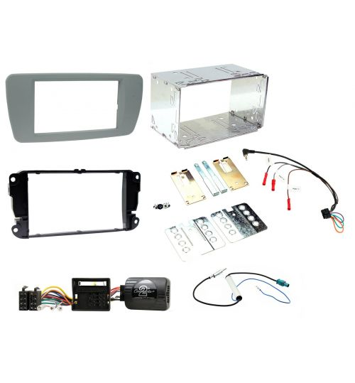 Connects2 Car Stereo Fitting Kit Double DIN Facia Radio Installation For Seat - CTKST03
