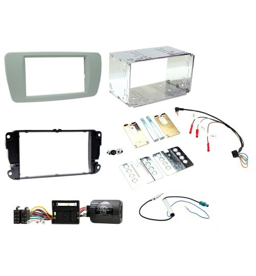 Connects2 Car Stereo Fitting Kit Double DIN Facia Radio Installation For Seat - CTKST04