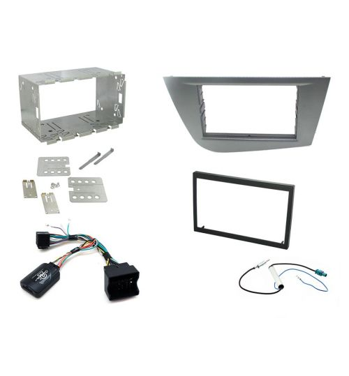Connects2 Car Stereo Fitting Kit Double DIN Facia Radio Installation For Seat - CTKST06