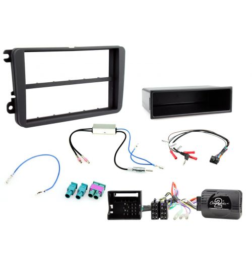 Connects2 Car Stereo Fitting Kit Double DIN Facia Radio Installation For Volkswagen - CTKVW04