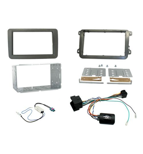 Connects2 Car Stereo Fitting Kit Double DIN Facia Radio Installation For Volkswagen - CTKVW16