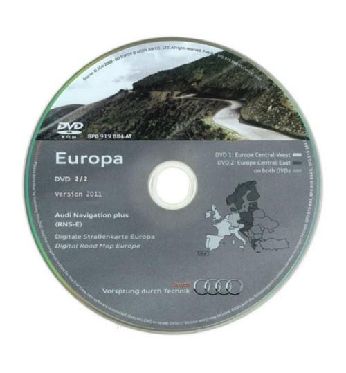 Audi Navigation DVD (2012 - Western Europe) for RNS-E (Navigation Plus)