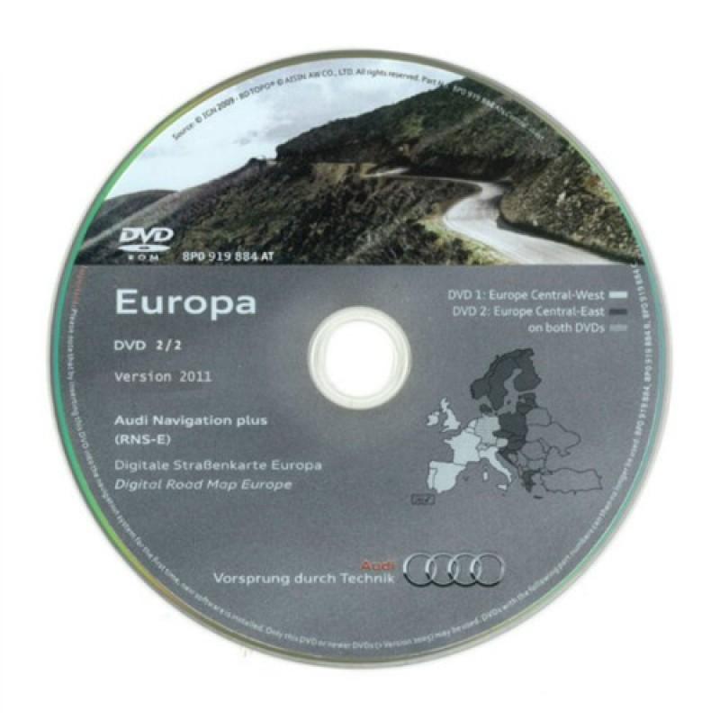 audi navigation dvd 2012 western europe for rns e. Black Bedroom Furniture Sets. Home Design Ideas