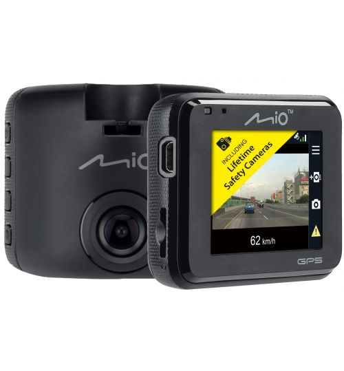 MIO MIVUE C330 GPS 1080P Dash Cam Driving Recorder with Safety Cameras