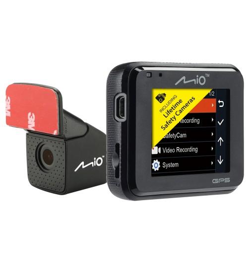 "Mio Mivue C380 DUAL 2"" Car Dash Cam Front Rear 32GB 1080p Full HD GPS Tracking"