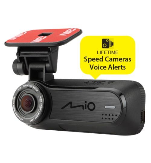 Mio Mivue J85 Car Dash Camera GPS Tracking 2.5K QHD 1600p Video Recording Wi-Fi