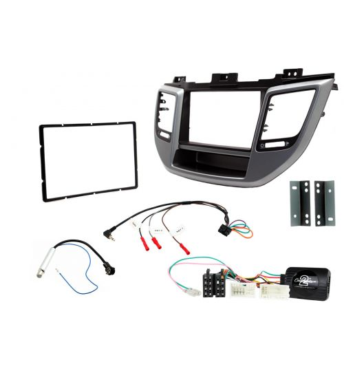 Connects2 Car Stereo Fitting Kit Double DIN Facia Radio Installation For Hyundai - CTKHY23