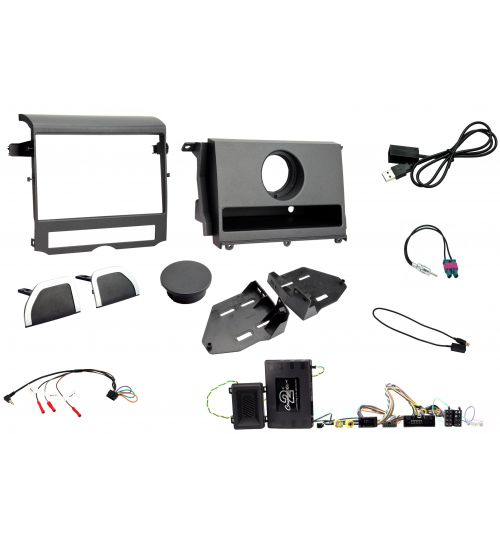 Connects2 Car Stereo Fitting Kit Double DIN Fascia Radio Installation For Land Rover Discovery - CTKLR10