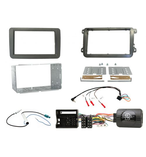 Connects2 Car Stereo Fitting Kit Double DIN Facia Radio Installation For Volkswagen - CTKVW01