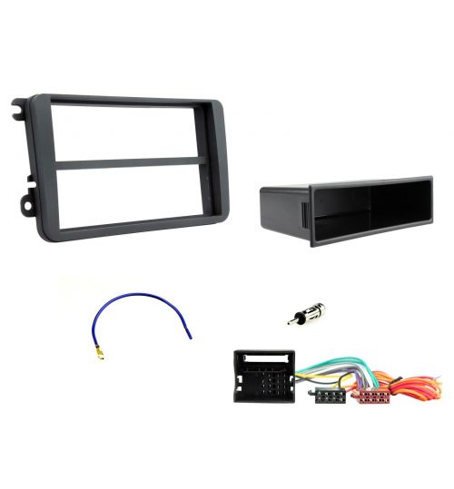 Connects2 Car Stereo Fitting Kit Single DIN Fascia Radio Fitting Kit For Volkswagen - CTKVW01-ISO