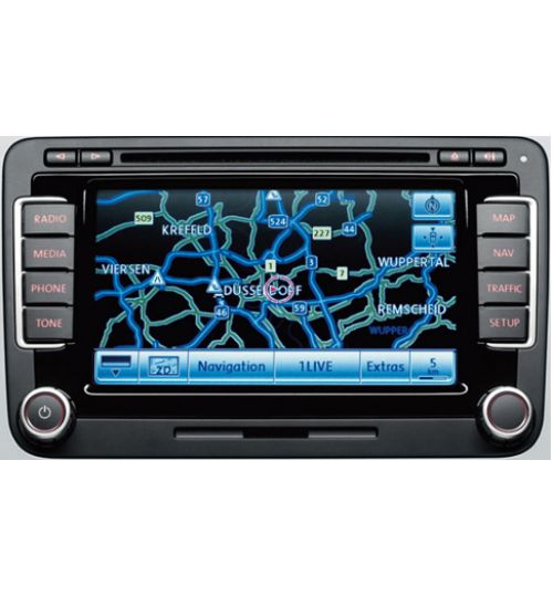 Volkswagen RNS-510 Touchscreen Navigation System Latest P Version (From Test Vehicle) - 12 Months Warranty