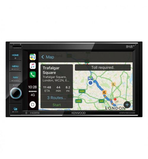 """Kenwood DNR4190DABS Mechless Double Din WVGA 6.2"""" Touch Screen USB iPhone Android Control"""