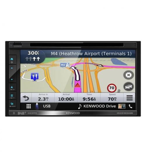 "Kenwood DNX5190DABS 6.8"" Garmin Navigation System DAB Radio Apple CarPlay Android Auto"