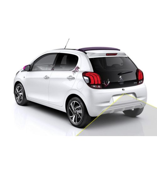 Peugeot 108 Reversing Rear View Camera Kit with Guidelines