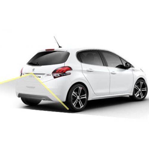 Peugeot 208 Reversing Rear View Camera Kit with Guidelines