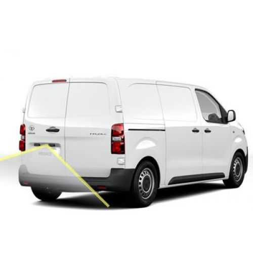 Toyota ProAce Reversing Rear View Camera Kit With Moving Guidelines