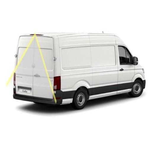 VW Crafter SY Reversing Camera Kit With Guidelines & Overhanging Brake Light Camera 2017+