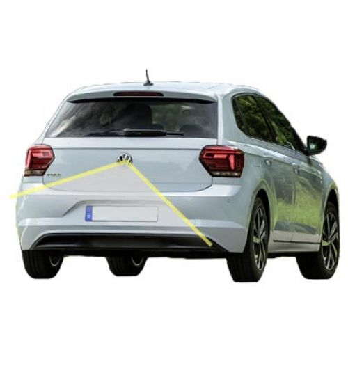 VW Polo 2018+ Reversing Emblem Camera Kit With Fix Guidelines