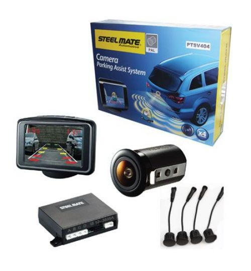 STEELMATE PTSV404 Rear Parking Sensors With Camera and Monitor
