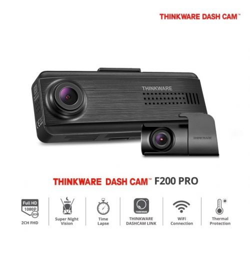 Thinkware F200 Pro FHD Dash Cam - Dual Channel 1080p