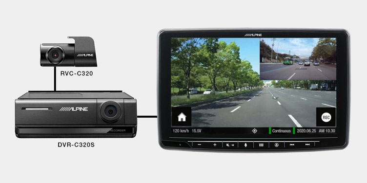 Alpine-ADAS-Dash-Cam_DVR-C320S_Head-Unit-Link