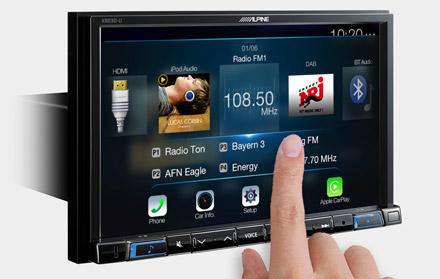 High Resolution WVGA Touch Screen
