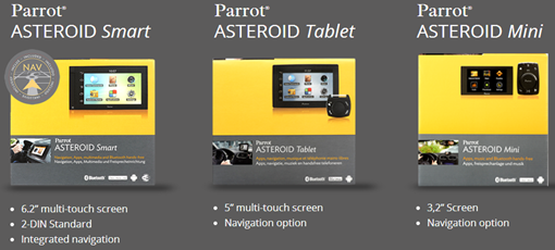 Audi parrot asteroid range smart tablet and mini if you are looking for a smart option for in car entertainment like connecting to the internet while driving the parrot asteroid range is worth a greentooth Choice Image