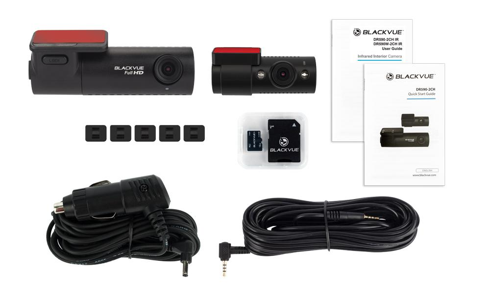 Blackvue-DR590-2CH-IR-Dashcam-Package-Components