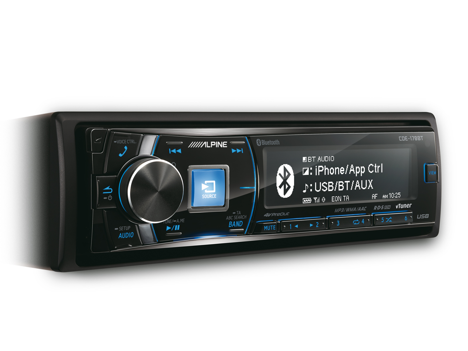 Alpine Cde 178bt Cd Mp3 Car Stereo Bluetooth Aux In Usb Ipod 123 Wiring Harness Iphone Android Player
