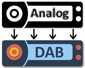 Analog to DAB