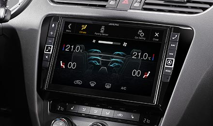 """Alpine i902D-OC3 9"""" Mobile Media System for Skoda Octavia 3 with Apple  CarPlay and Android Auto"""