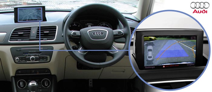 Audi Q3 Reversing camera screen