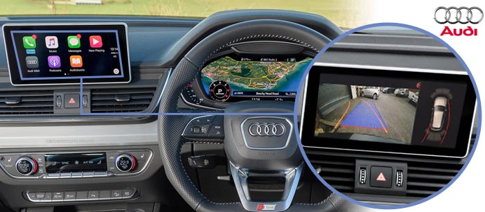 Audi Q5 reversing camera screen