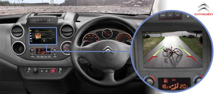 Citroen Berlingo Reversing Rear View Camera Kit With Guidelines