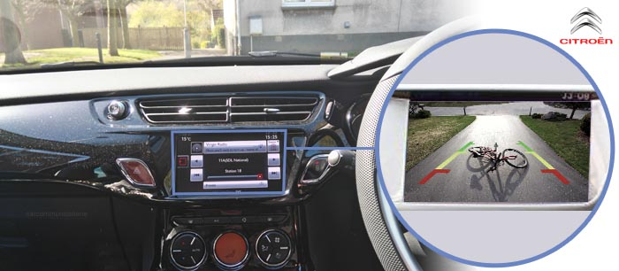 C3 reversing camera screen