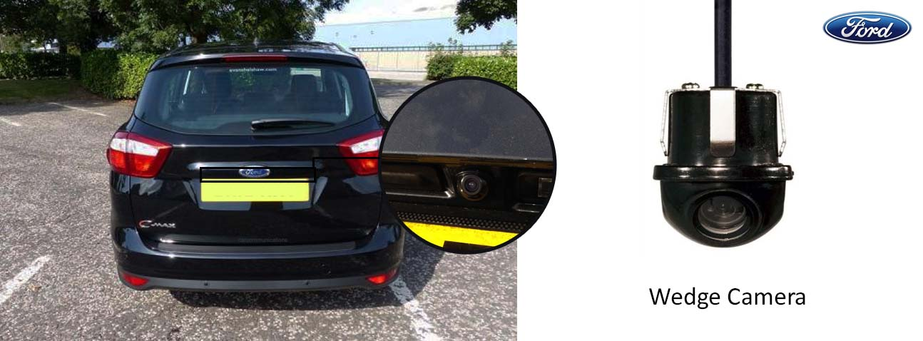 ford c-max reversing rear view wedge camera