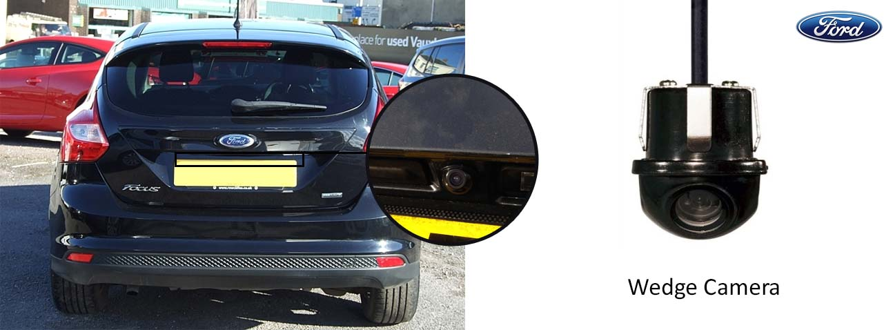 ford focus reversing rear view wedge camera