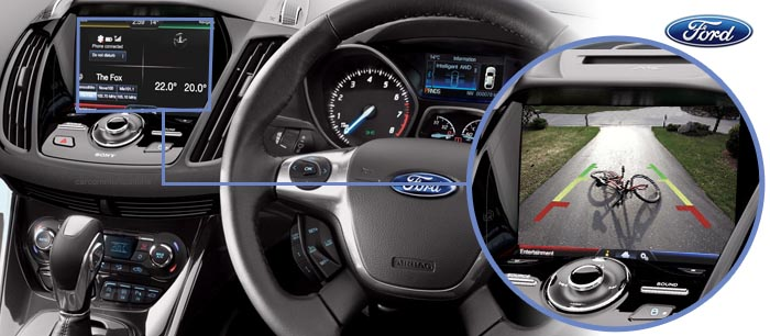 ford kuga reversing camera screen