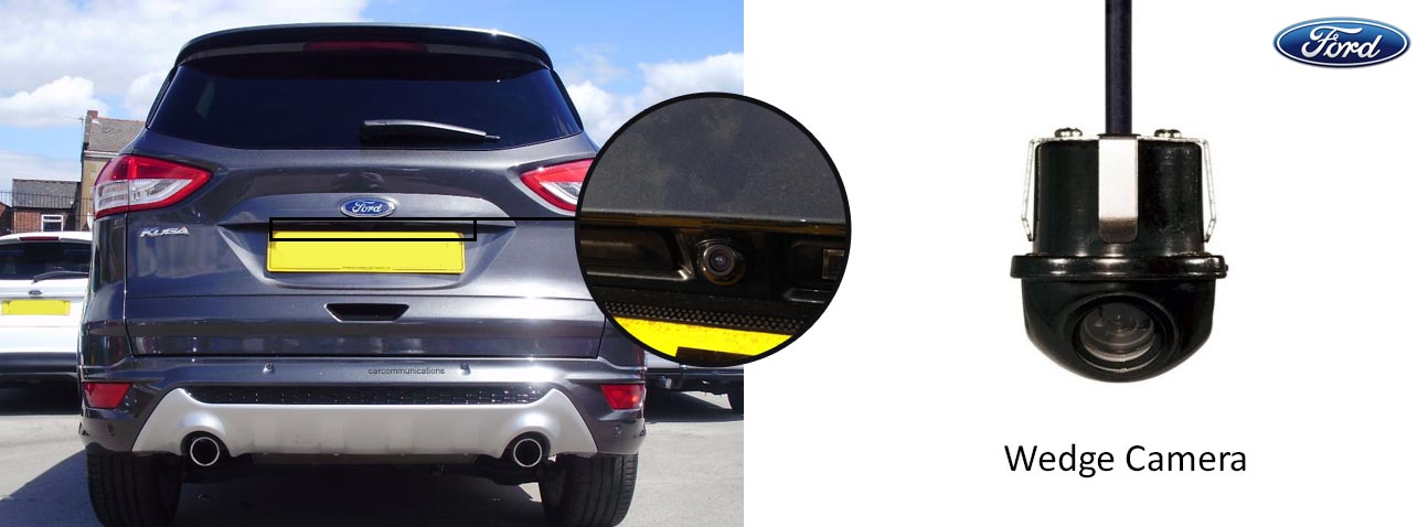 ford kuga reversing rear view wedge camera
