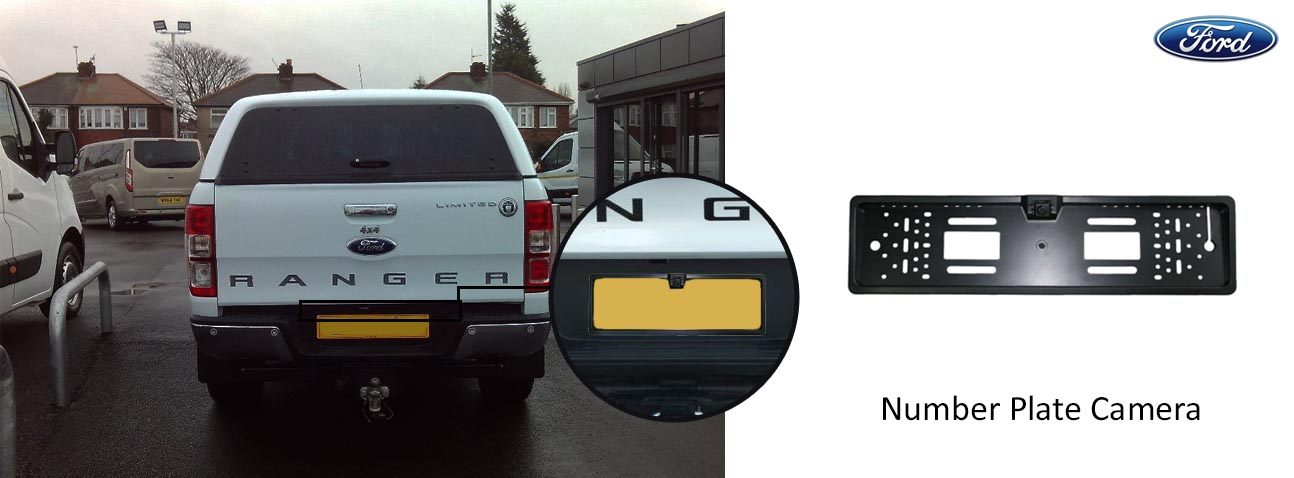 ford Ranger reversing rear view wedge camera