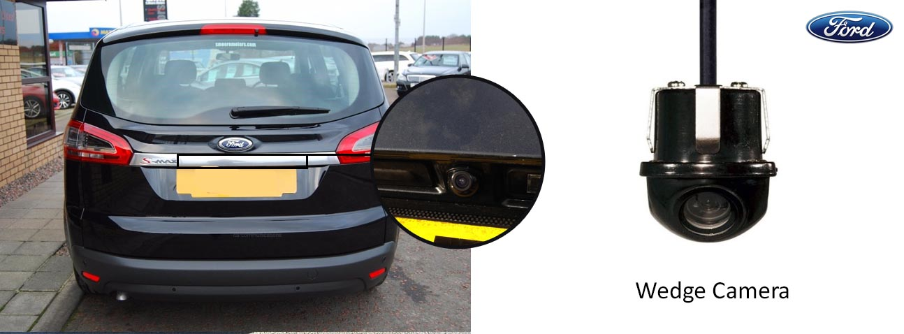 ford S-Max reversing rear view wedge camera