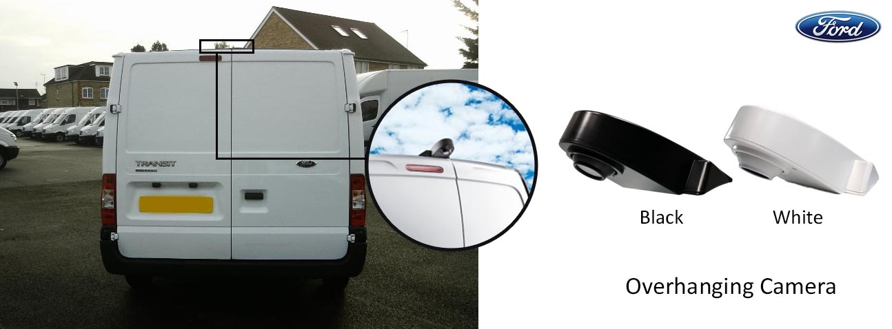 Ford Transit reversing rear view overhanging camera